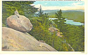 Balanced Rock Adirondacks NY  Postcard p17364 (Image1)