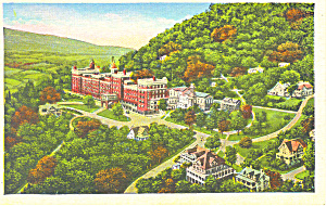 Physical Culture Hotel  Danville NY  Postcard p17367 1938 (Image1)