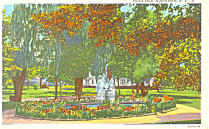 Thrall Park Middletown NY  Postcard p17368 (Image1)