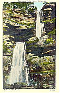 Katterskill Falls Catskills NY  Postcard p17377 1951 (Image1)