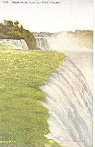 Brink of American Falls Niagara Falls NY  Postcard p17378 (Image1)