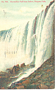 Horseshoe Falls Niagara Falls, NY  Postcard 1910 (Image1)