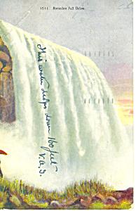Horseshoe Falls Niagara Falls, NY  Postcard 1909 (Image1)