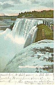 American Falls Niagara Falls NY  Postcard p17386 1907 (Image1)