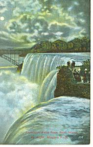 American Falls Niagara Falls NY  Postcard p17387 1914 (Image1)