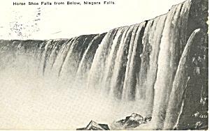 Horseshoe Falls Niagara Falls, NY  Postcard 1915 (Image1)