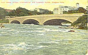 Goat Island Bridge Hotels Niagara Falls NY  Postcard p17395a (Image1)
