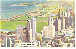 Chicago IL Hotel Sheraton Postcard p17397 (Image1)