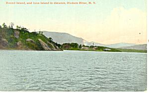 Round Island Hudson River NY  Postcard p17407 (Image1)