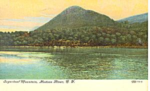 Sugarloaf Mountain Hudson River NY  Postcard p17408 1907 (Image1)