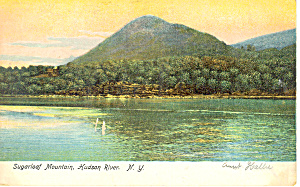 Sugarloaf Mountain Hudson River NY  Postcard p17409 (Image1)