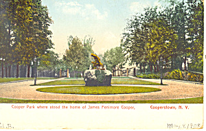 Cooper Park Cooperstown NY  Postcard p17427 (Image1)