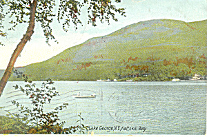 Kattskill Bay Lake George NY Postcard p17431 1907 (Image1)