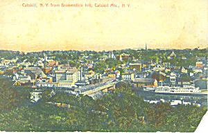 Catskill NY From Broomstick Hill Postcard p17432 (Image1)