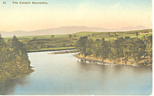 Catskill Mountains NY Hand Colored Postcard p17436 (Image1)