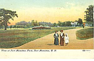 Fort Hamilton Park Fort Hamilton NY Postcard p17443 1908 (Image1)