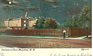 Convent at Fort Hamilton NY Postcard p17444 1907 (Image1)