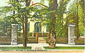 Wm H Sewards Residence Auburn NY Postcard p17446 1915 (Image1)