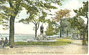 Promenade Hill Hudson NY Postcard p17447 1908 (Image1)