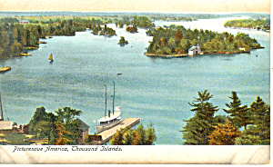 Picturesque America Thousand Islands NY Postcard p17460 (Image1)