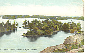 Out of Sight Channel Thousand Islands NY  Postcard p17465 (Image1)