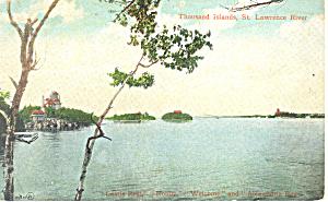 St Lawrence RiverThousand Islands NY  Postcard p17466 (Image1)