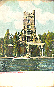Alster Tower Thousand Islands NY  Postcard p17469 (Image1)