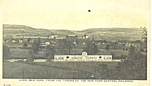 Ilion NY From New York Central Tracks  Postcard p17473 (Image1)