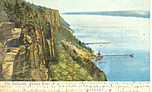 The Palisades Hudson River NY  Postcard p17483 1907 (Image1)