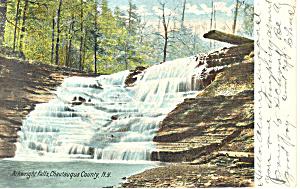 Arkwright Falls Chautauqua County NY  Postcard p17486 1906 (Image1)