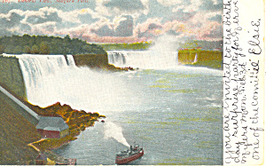 General View of Niagara Falls NY   Postcard 1906 (Image1)