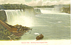 General View of Niagara Falls NY   Postcard (Image1)