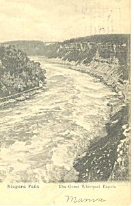 Whirlpool Rapids Niagara Falls NY   Postcard p17495 1905 (Image1)