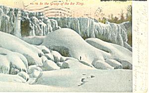 Grasp of Ice King Niagara Falls NY   Postcard p17496 1907 (Image1)