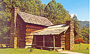 Pioneer Farmstead Cherokee  NC   Postcard p17532 (Image1)