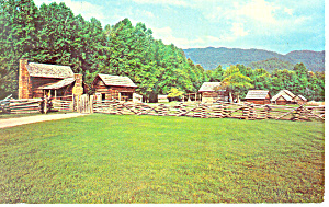 Pioneer Farmstead, Smoky Mountains,NC Postcard (Image1)