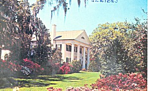 Plantation House  and Azaleas NC Postcard p17554 (Image1)