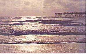 Fishing Pier Outer Banks of NC Postcard p17579 1975 (Image1)