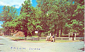 Salem Square Old Salem Winston Salem NC Postcard p17600 (Image1)