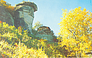 Fall Colors Chimney Rock NC Postcard p17610 (Image1)