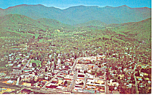 Aerial View of Black Mountain NC Postcard p17618 (Image1)
