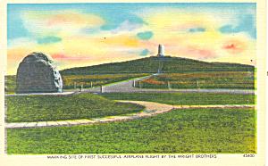 Marker and Monument Kill Devil Hills NC Postcard p17620 (Image1)
