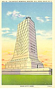 Wright Memorial Beacon Kill Devil Hills NC Postcard p17625 (Image1)