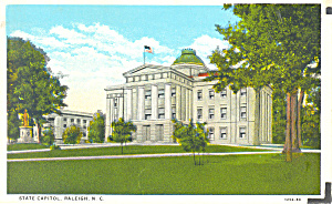 State Capitol Raleigh NC Postcard p17629 (Image1)