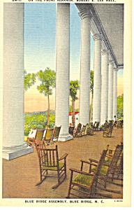 Robert E Lee Hall Blue Ridge NC Postcard p17633 (Image1)