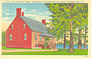 Old Brick House, Elizabeth City Nc Postcard