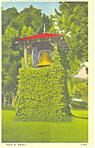 Bell Tower Lake Junaluska NC Postcard p17635 (Image1)