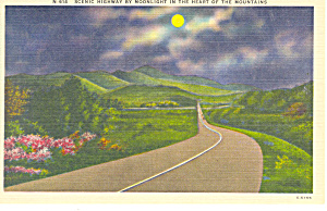 Scenic Highway Mountains of  NC Postcard p17639 (Image1)