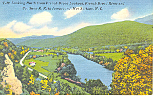 French Broad River Hot Springs  NC Postcard p17643 (Image1)