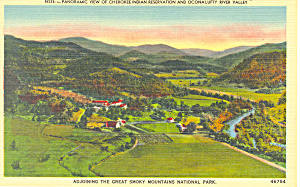 Panorama Of Cherokee Indian Reservation Nc Postcard P17645
